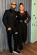 """April 3, 2017- Brooklyn, New York -United States: (L-R) Music Producer Kasseem 'Swiss Beatz' Dean and Recording Artist Alicia Keys attend The Seventh Annual Brooklyn Artists Ball honoring Alicia Keys and Kasseem """"Swiss Beatz"""" Dean held at the Brooklyn Museum on April 3, 2017 in Brooklyn, New York. The Brooklyn Artist Ball is the largest annual fundraising gala at the Brooklyn Museum, which celebrates Brooklyn's creative community and supports the institution's many programs. (Terrence Jennings/terrencejennings.com)"""