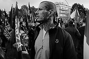 'All for the homeland'. The rightwing-extremists party 'Forza Nuova' (New Force) demonstrate in defense of the country and against immigration during the day of national unity. Rome 4 November 2017. Christian Mantuano / OneShot