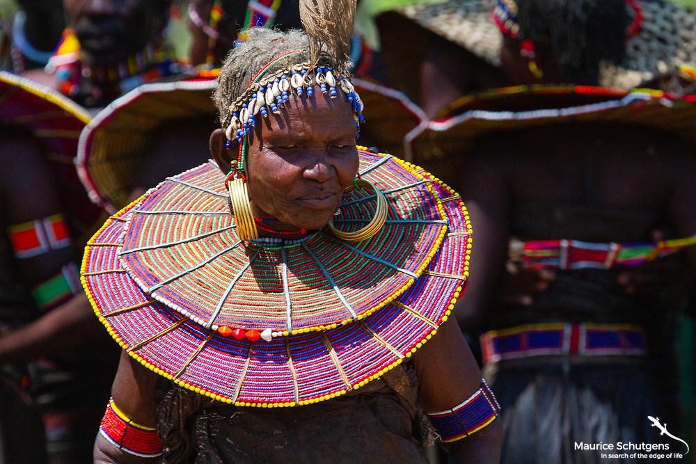 An elderly pokot woman in northern Kenya.