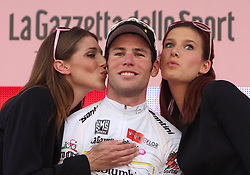 Mark Cavendish (GBR) of Team Columbia won the White jersey for best young rider (U25) at 2nd stage of 92nd Giro d'Italia in Trieste, on May 10, 2009, in Trieste, Italia.  (Photo by Vid Ponikvar / Sportida)