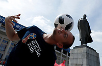freestyler performance near the Lenin statue <br /> Moscow 13-06-2018 Football FIFA World Cup Russia  2018 <br /> Foto Matteo Ciambelli/Insidefoto