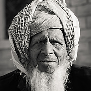portrait of old Rajistani man in village of Chandelao