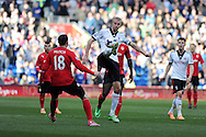 Fulham's Brede Hangeland © controls the ball. Barclays Premier league, Cardiff city v Fulham at the Cardiff city Stadium in Cardiff , South Wales on Sat 8th March 2014. pic by Andrew Orchard, Andrew Orchard sports photography