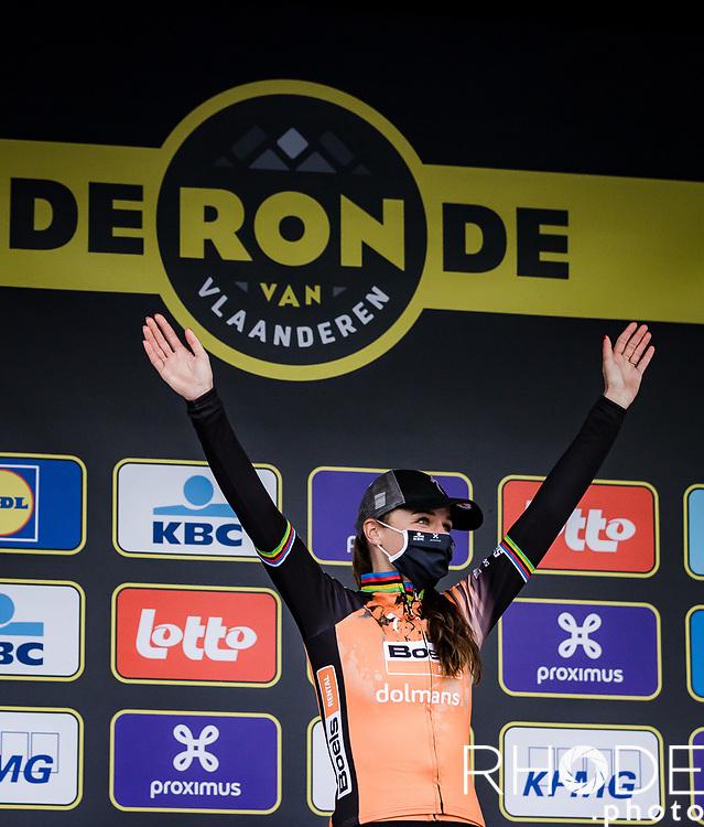 Chantal van den Broek-Blaak (NED/Boels-Dolmans) wins the 17th Ronde van Vlaanderen 2020<br /> Elite Womens Race (1.WWT)<br /> <br /> One Day Race from Oudenaarde to Oudenaarde 136km<br /> <br /> ©kramon