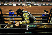 Hundreds of cowboys and a handful of cowgirls from all around the US, Mexico and Canada compete in seven contests (bareback riding, steer wrestling, saddle bronco riding, tie down roping, team roping, barrel racing and bull riding) during the Silver Spurs Rodeo was held at the Osceola Heritage Park over the weekend of February 20, 2011 in Kissimmee, Fla.