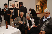 95 year old Alexandre Vitkine, Carmen Berlin and Ludwig Berlin. Collectors evening viewing of  Alexandre Vitkine exhibition of Industrial Silhouettes,  Hacklebury, Lauceston Place. London. 23  February 2006. ONE TIME USE ONLY - DO NOT ARCHIVE  © Copyright Photograph by Dafydd Jones 66 Stockwell Park Rd. London SW9 0DA Tel 020 7733 0108 www.dafjones.com