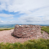 Stone shelter on Fan Foel, Black Mountain, Brecon Beacons national park, Wales