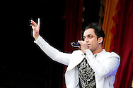 The hugely successful singer-songwriter Navin Kundra performs at the Vaisakhi Festival, Trafalgar Square, London, UK (5 May 2013). Vaisakhi is one of the most important days in the Sikh religion, and also marks the beginning of the New Year.