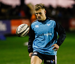 Harri Morgan of Ospreys during the pre match warm up<br /> <br /> Photographer Simon King/Replay Images<br /> <br /> Guinness PRO14 Round 7 - Ospreys v Connacht - Friday 26th October 2018 - The Brewery Field - Bridgend<br /> <br /> World Copyright © Replay Images . All rights reserved. info@replayimages.co.uk - http://replayimages.co.uk