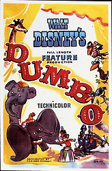 1941, Film Title: DUMBO, Director: BEN SHARPSTEEN, Studio: DISNEY, Pictured: POSTER ART, ILLUSTRATION, CIRCUS, ELEPHANT, ANIMATION, DISNEY ANIMATION. (Credit Image: SNAP/ZUMAPRESS.com) (Credit Image: © SNAP/Entertainment Pictures/ZUMAPRESS.com)