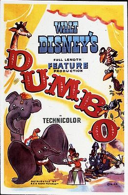 1941, Film Title: DUMBO, Director: BEN SHARPSTEEN, Studio: DISNEY, Pictured: POSTER ART, ILLUSTRATION, CIRCUS, ELEPHANT, ANIMATION, DISNEY ANIMATION. (Credit Image: SNAP/ZUMAPRESS.com) (Credit Image: © SNAP/Entertainment Pictures/ZUMAPRESS.com)