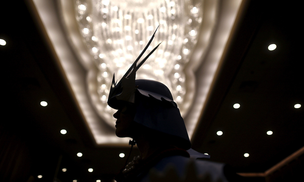 Amanda Roark is seen in the hallway before the start of the costume contest at Wizard World Comic Con in Chicago, Illinois, United States, August 22, 2015. REUTERS/Jim Young