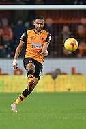 Hull City midfielder Ahmed Elmohamady , during the Sky Bet Championship match between Hull City and Burnley at the KC Stadium, Kingston upon Hull, England on 26 December 2015. Photo by Ian Lyall.