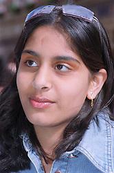 Portrait of teenage girl looking thoughtful,