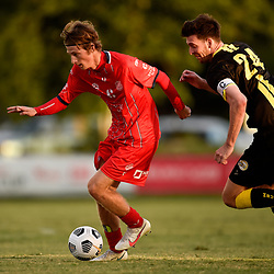 BRISBANE, AUSTRALIA - APRIL 3:  during the FFA Cup Preliminary Round 4 match between Olympic FC and Moreton Bay Jets on April 3, 2021 in Brisbane, Australia. (Photo by Patrick Kearney)