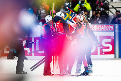 March 16, 2019 - –Stersund, Sweden - 190316 Norway celebrates the Women's 4x6 km Relay during the IBU World Championships Biathlon on March 16, 2019 in Östersund..Photo: Johan Axelsson / BILDBYRÃ…N / Cop 245 (Credit Image: © Johan Axelsson/Bildbyran via ZUMA Press)