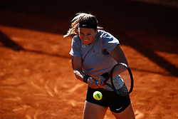 May 3, 2019 - Madrid, MADRID, SPAIN - Anett Kontaveit of Estonia during the Mutua Madrid Open 2019 (ATP Masters 1000 and WTA Premier) tenis tournament at Caja Magica in Madrid, Spain, on April 28, 2019. (Credit Image: © AFP7 via ZUMA Wire)