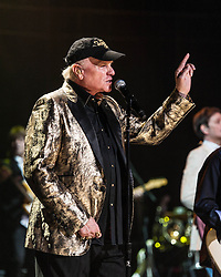 © Licensed to London News Pictures. 27/09/2012. London, UK. Mike Love of The Beach Boys perform live at The Royal Albert Hall, London, as part of their 50th Anniversary Tour.  It is reported that this is the final tour that Love, Wilson and Jardine will play together as The Beach Boys - with Love planning on continuing the band with different band members. Photo credit : Richard Isaac/LNP