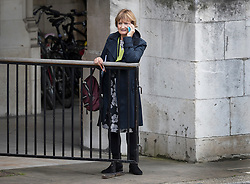 © Licensed to London News Pictures. 27/06/2016. London, UK.  Labour MP Tessa Jowell is seen at Parliament talking on her mobile phone . Labour Party Leader Jeremy Corbyn is making new appointments to his shadow cabinet after a number of resignations. Photo credit: Peter Macdiarmid/LNP