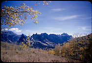 View of the Mt. Sneffels Range of the San Juan Mountains from the Ridgway / Dallas Divide area.<br /> Dallas Divide (area), CO  <br /> Thanks to Don Bergman for additional information.