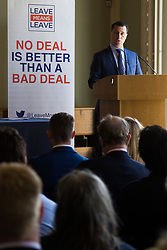 British Academy, London, April 10th 2017. Independent MEP Steven Woolfe of the Leave Means Leave group supporting Brexit delivers a 'fair, flexible and forward thinking' immigration policy white paper. Credit: Paul Davey