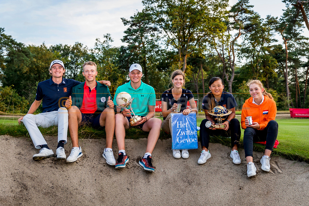 20-07-2019 Pictures of the final day of the Zwitserleven Dutch Junior Open at the Toxandria Golf Club in The Netherlands.<br /> Best Nation winners men and women: The Netherlands