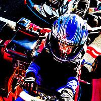 Nederland, Lelystad, 25-09-2016.<br /> Kartcentrum Lelystad.<br /> Jonge karters tijdens hun training op zondagmorgen.<br /> Foto: Klaas Jan van der Weij