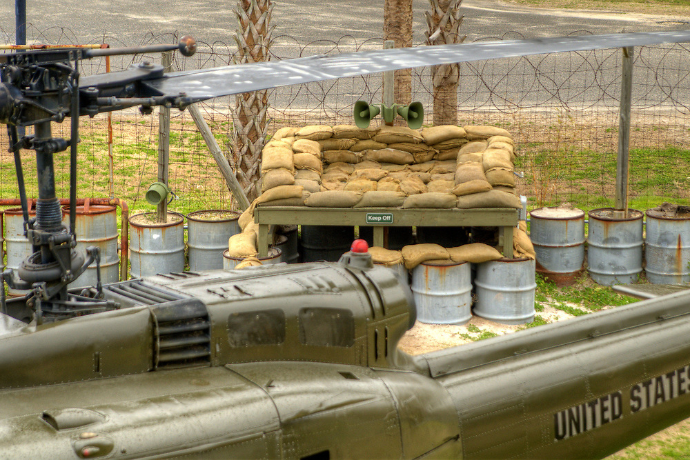 One of the many bunkers at the Vietnam War Experience at Patriots Point Naval Maritime Museum in Mt. Pleasant, SC on Saturday, February 28, 2015. Copyright 2015 Jason Barnette<br /> <br /> Patriots Point is a popular tourist attraction located along the Cooper River. The site serves as the home of the USS Yorktown aircraft carrier, USS Clamagore submarine, and USS Laffey destroyer. The museum also features a gift shop, the Vietnam War Experience, and boat tours to Fort Sumter.
