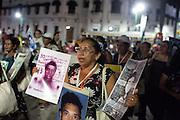 """Protestas por la desaparición forzada de 43 estudiantes de la Escuela Normal Rural """"Raúl Isidro Burgos"""" ocurrida el 26 de septiembre de 2014. <br /> Caravana de Madres Centroamericanas, Tapachula, Chiapas, 6 de diciembre de 2014.<br /> (Foto: Prometeo Lucero)"""