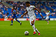 Bournemouth forward Dominic Solanke (9) in action during the EFL Sky Bet Championship match between Cardiff City and Bournemouth at the Cardiff City Stadium, Cardiff, Wales on 18 September 2021.