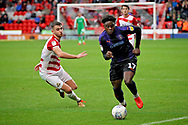 Luton Town midfielder Pelly-Rudduck Mpanzu (17) on the attack during the EFL Sky Bet League 1 match between Doncaster Rovers and Luton Town at the Keepmoat Stadium, Doncaster, England on 8 September 2018.