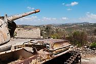 An abandoned tank in Qana, Lebanon (September 2010)