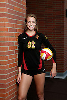 10 August 2010:  #32 Zoe Garrett MB Senior year  on the Pac-10 NCAA College Women's Volleyball team for the USC Trojans Women of Troy photographed at the Galen Center on Campus in Southern California. .Images are for Personal use only.  No Model Release, No Property Release, No Commercial 3rd Party use. .Photo Credit should read: ©2010ShellyCastellano.com