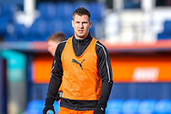 Luton Town forward James Collins warms up before the EFL Sky Bet League 1 match between Luton Town and Wycombe Wanderers at Kenilworth Road, Luton, England on 9 February 2019.