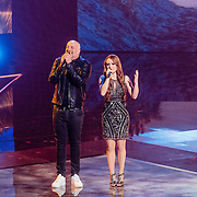 NLD/Hilversum//20170218 - Finale The Voice of Holland 2017, Paskal Jakobsen en Isabel Provoost