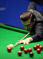 Mark Selby during day seventeen of the Betfred Snooker World Championships at the Crucible Theatre, Sheffield.