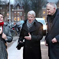 Nederland, Amsterdam , 24 januari 2012..Journalist radio en televisiemaker Coen Verbraak met cabaret duo Kees van Kooten en Wim de Bie vooral bekend van het satyrisch televisieprogramma van Kooten en De Bie en Keek op de Week..Foto:Jean-Pierre Jans