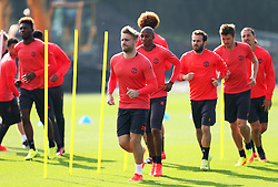 Luke Shaw of Manchester United trains  - Mandatory by-line: Matt McNulty/JMP - 14/09/2016 - FOOTBALL - Manchester United - Training session ahead of Europa League Group A match against Feyenoord