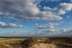 great cloud formations and sunset light at the beach in Amagansett, NY