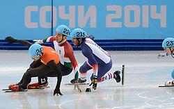 10-02-2014 SHORTTRACK: OLYMPIC GAMES: SOTSJI<br /> 1500 meter met Niels Kerstholt<br /> ©2014-FotoHoogendoorn.nl