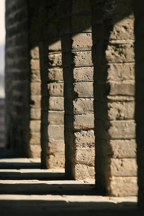 A watch tower along The Great Wall at Badaling.