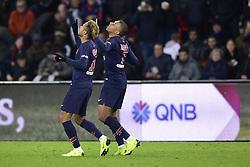 November 2, 2018 - Paris, France - joie des joueurs du PSG  apres le but de MBAPPE Kylian (PSG) .NEYMAR JR  (Credit Image: © Panoramic via ZUMA Press)