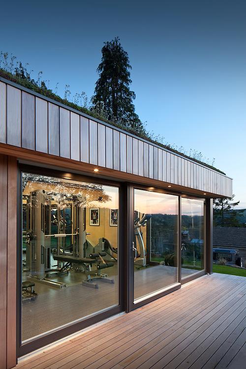 ecospace studios, garden studio, gym, peak district, england, uk,