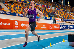 Rik Taam in action on 1000 meters during the Dutch Athletics Championships on 14 February 2021 in Apeldoorn