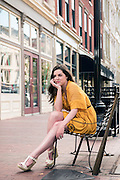 Natalie Delautre, photographed Tuesday, Aug. 11, 2015 downtown in Louisville, Ky. (Photo by Brian Bohannon)