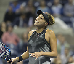 September 6, 2017 - New York, New York, United States - Madison Keys of USA reacts during match against Kaia Kanepi of Estonia at US Open Championships at Billie Jean King National Tennis Center  (Credit Image: © Lev Radin/Pacific Press via ZUMA Wire)