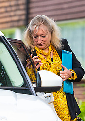 Head teacher Ruth Ejvet leaves her Essex home to attend her ongoing employment tribunal at Stratford Employment Tribunal in Poplar. Theydon Bois, Essex, May 22 2019.