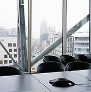 View towards the Nat West Tower and the City of London from the boardroom of Liquid Capital, a London derivatives trading company.From the series Desk Job, a project which explores globalisation through office life around the World.