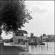 Henley-On-Thames, Berkshire, UK.,Thursday, 22/07/2021,   2021 Regatta Course Construction, [Mandatory Credit: Peter Spurrier/Intersport Images],