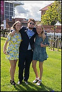 ROSE GREVILLE; MUNGO FAWCETT; ELLA BURCHNALL, Ebor Festival, York Races, 20 August 2014
